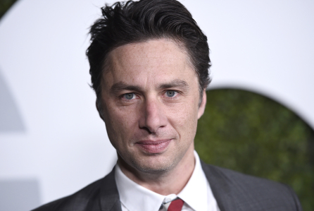 Zach Braff arrives at the GQ Men of the Year Party at the Chateau Marmont on Thursday, Dec. 3, 2015, in Los Angeles. (Photo by Jordan Strauss/Invision/AP)